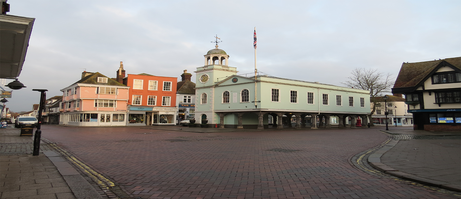 The Guildhall in Faversham Town Centre